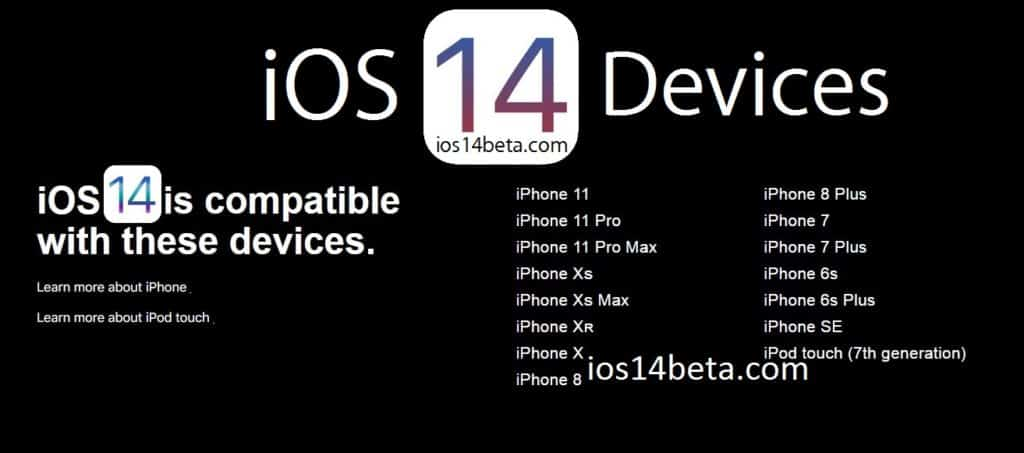 ios 14 supported devices